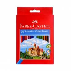 Set of 36 FABER CASTELL WOOD COLORS
