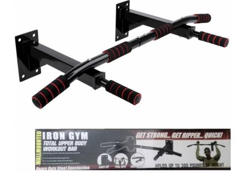 IRON GYM WALL MOUNT PULL UP BAR